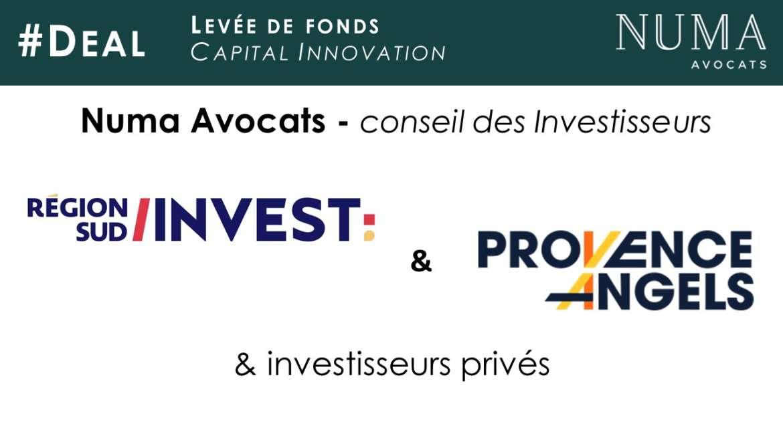 Numa Avocats accompagne Région Sud Investissement, Provence Angels et des investisseurs privés dans le cadre de la levée de fonds de GRINTA